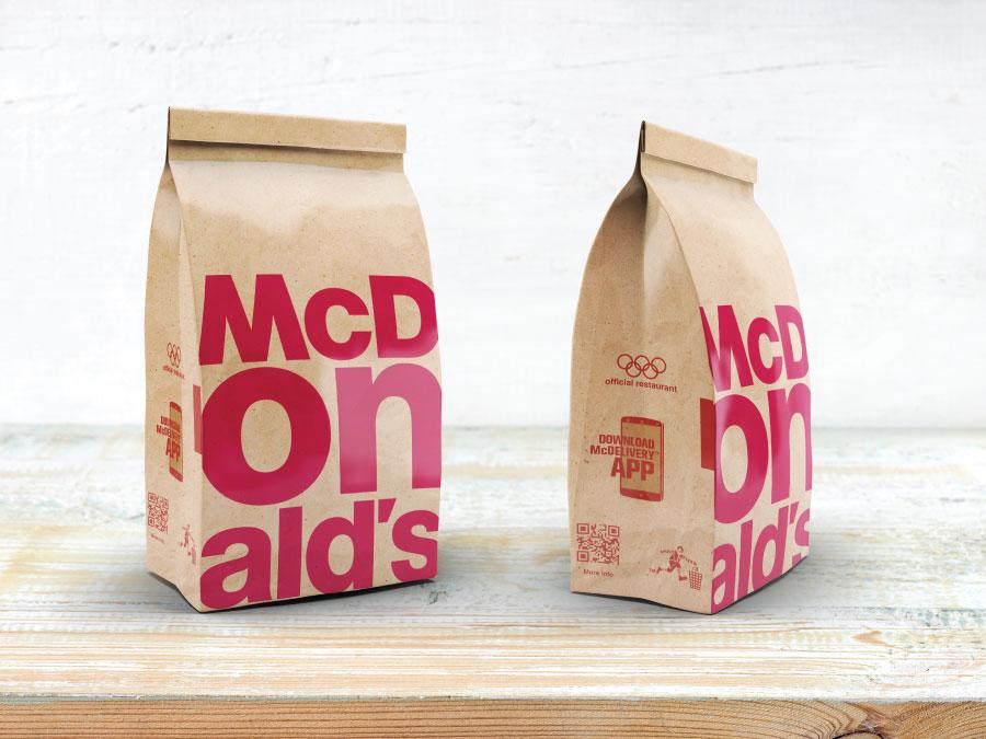 Mc Donalds Take Away Bag